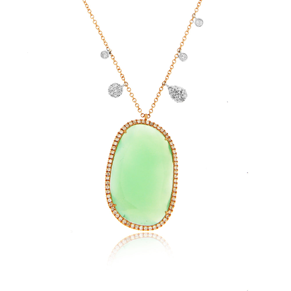 Chrysoprase Rose Gold Necklace