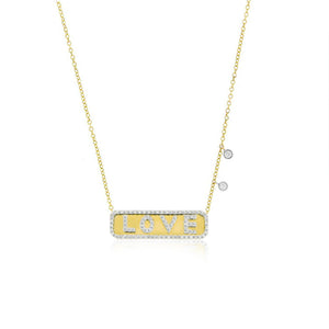 love plate necklace-Meira T