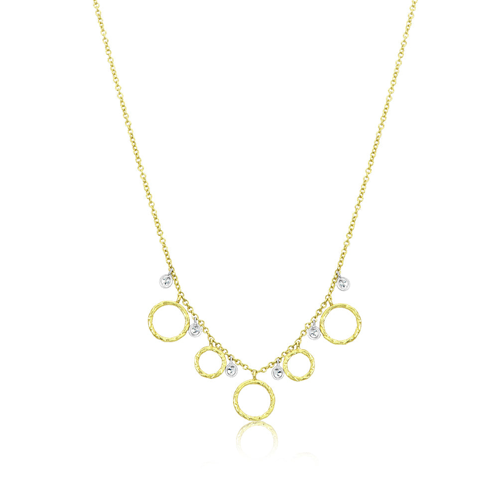 Yellow Gold Disk Necklace