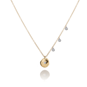 Disk Necklace with Bezel Charms