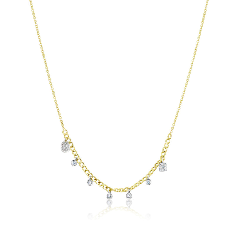 Chunky Chain Bezel Necklace