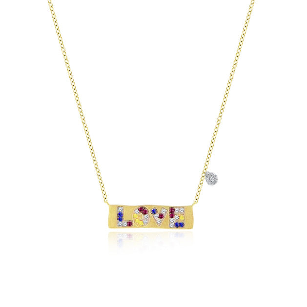 Love Rainbow Necklace