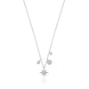 Starburst Diamond Charm Necklace