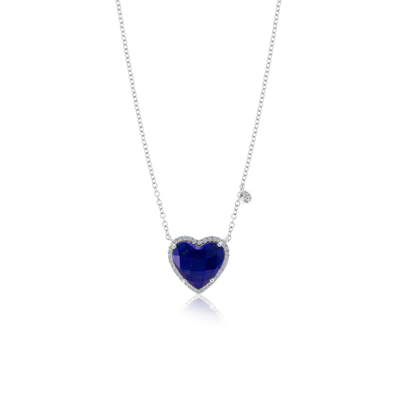 Copy of Blue Opal Heart Necklace