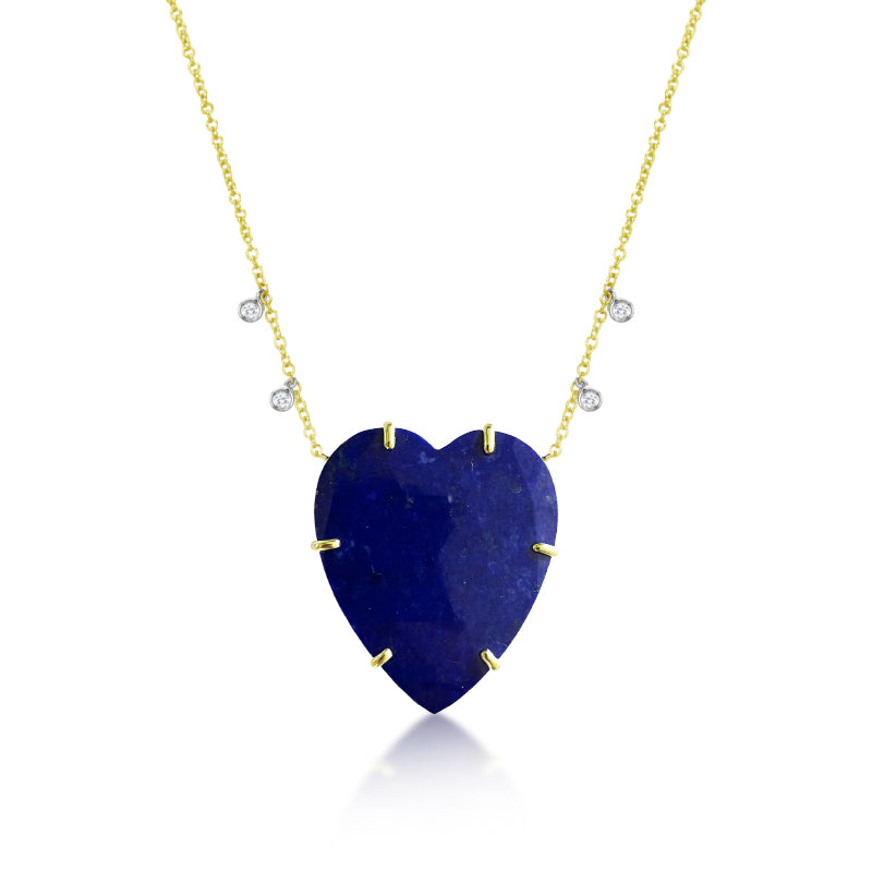 Lapis Lazuli Heart Necklace | Limited Edition