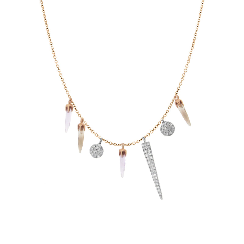 Rose Gold Dagger Necklace