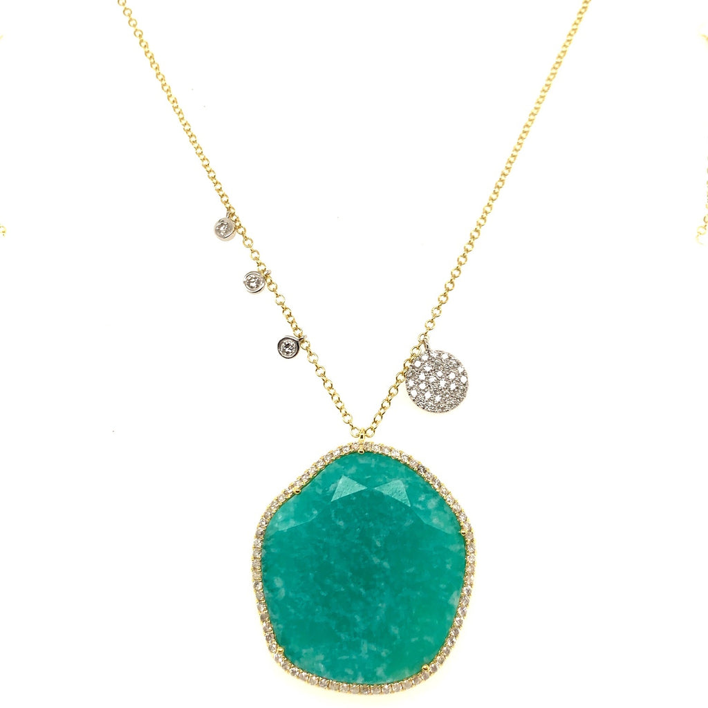 Yellow Gold Amazonite Necklace