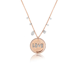 Rose Gold Rotating Love Necklace