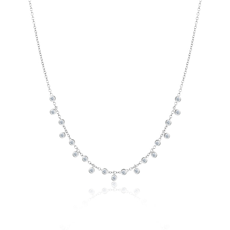 Bezel Diamond Necklace