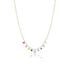 Rainbow Charm Necklace with Diamonds