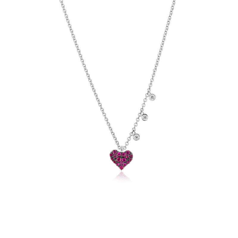 Ruby Dainty Heart Necklace