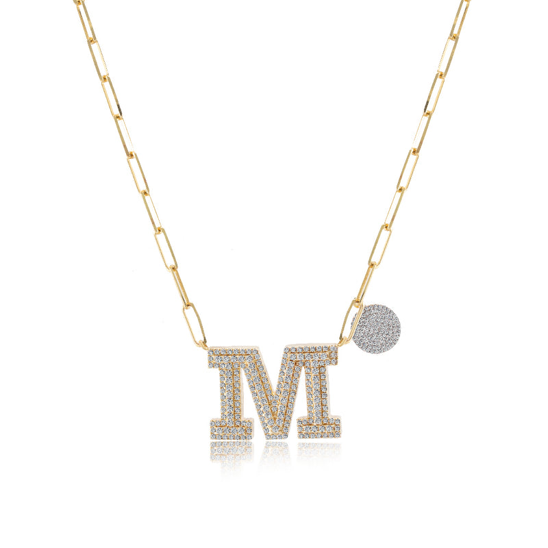 Chunky Chain Initial Necklace
