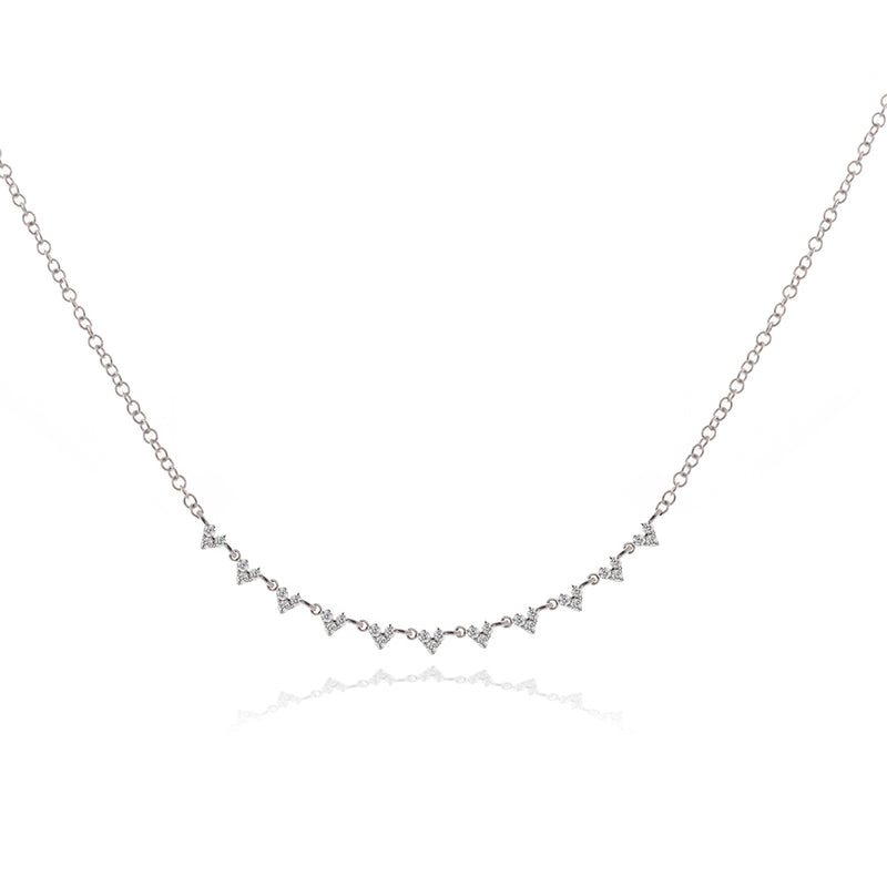 Meira T White Gold Choker Layering piece