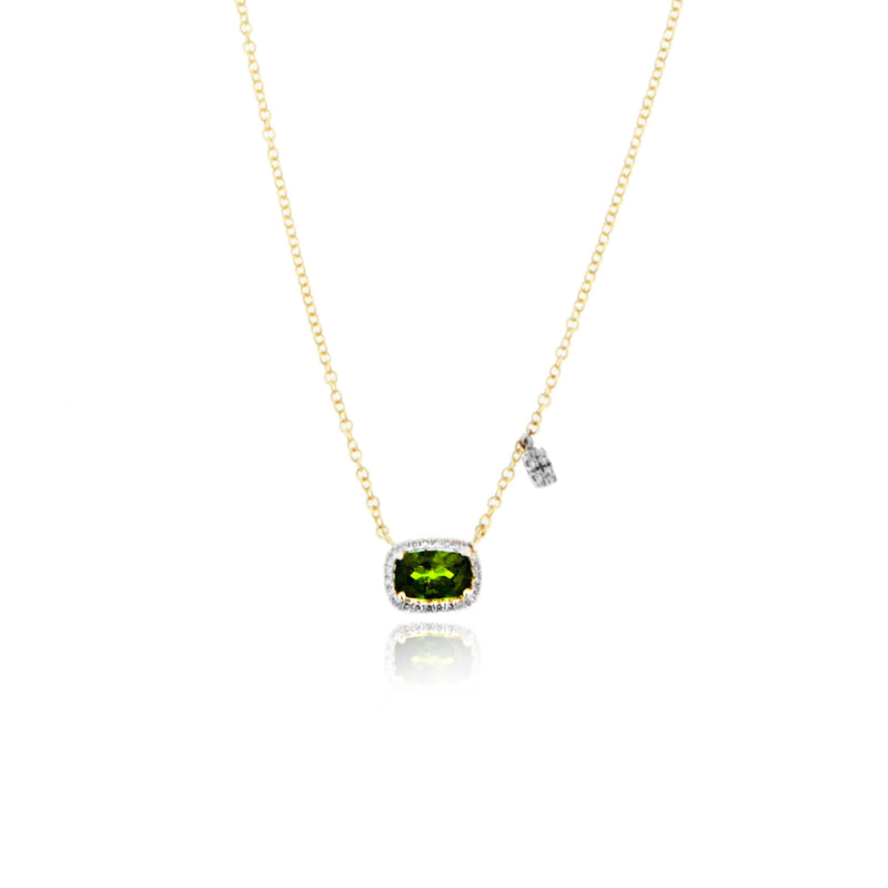 Green Chrome Halo Necklace