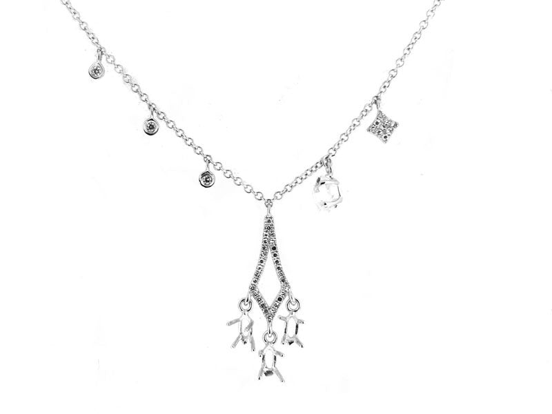 White Gold Charm Necklace
