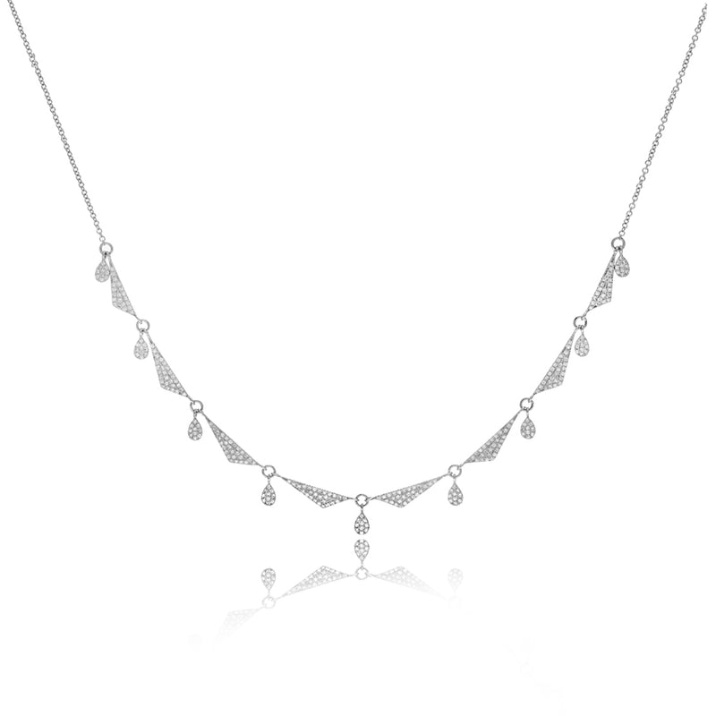 White Gold Layering Necklace