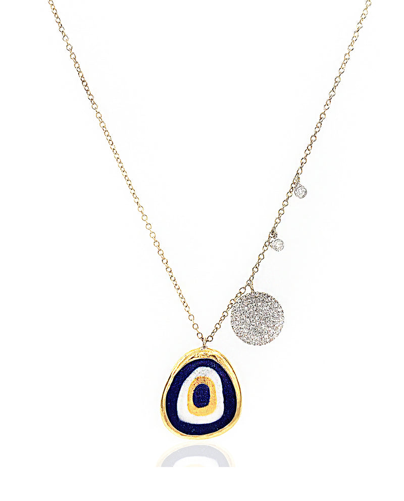 Antique Evil Eye Disk Necklace