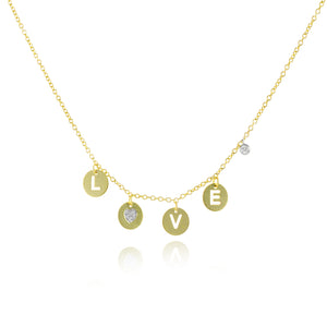 Love Disck Necklace