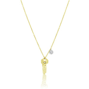 Diamond Key Necklace