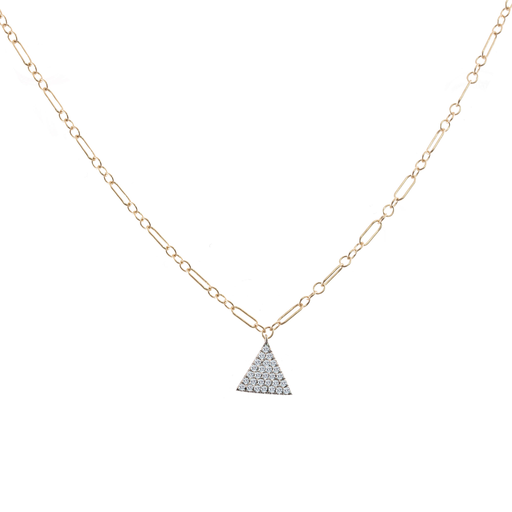 Pave Triangle Diamond Chain Necklace