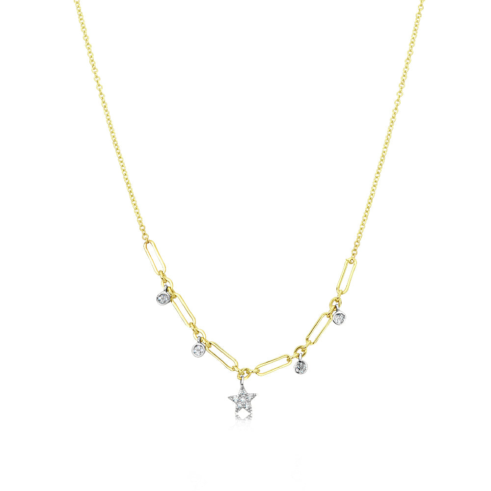 Chunky Chain Star Necklace