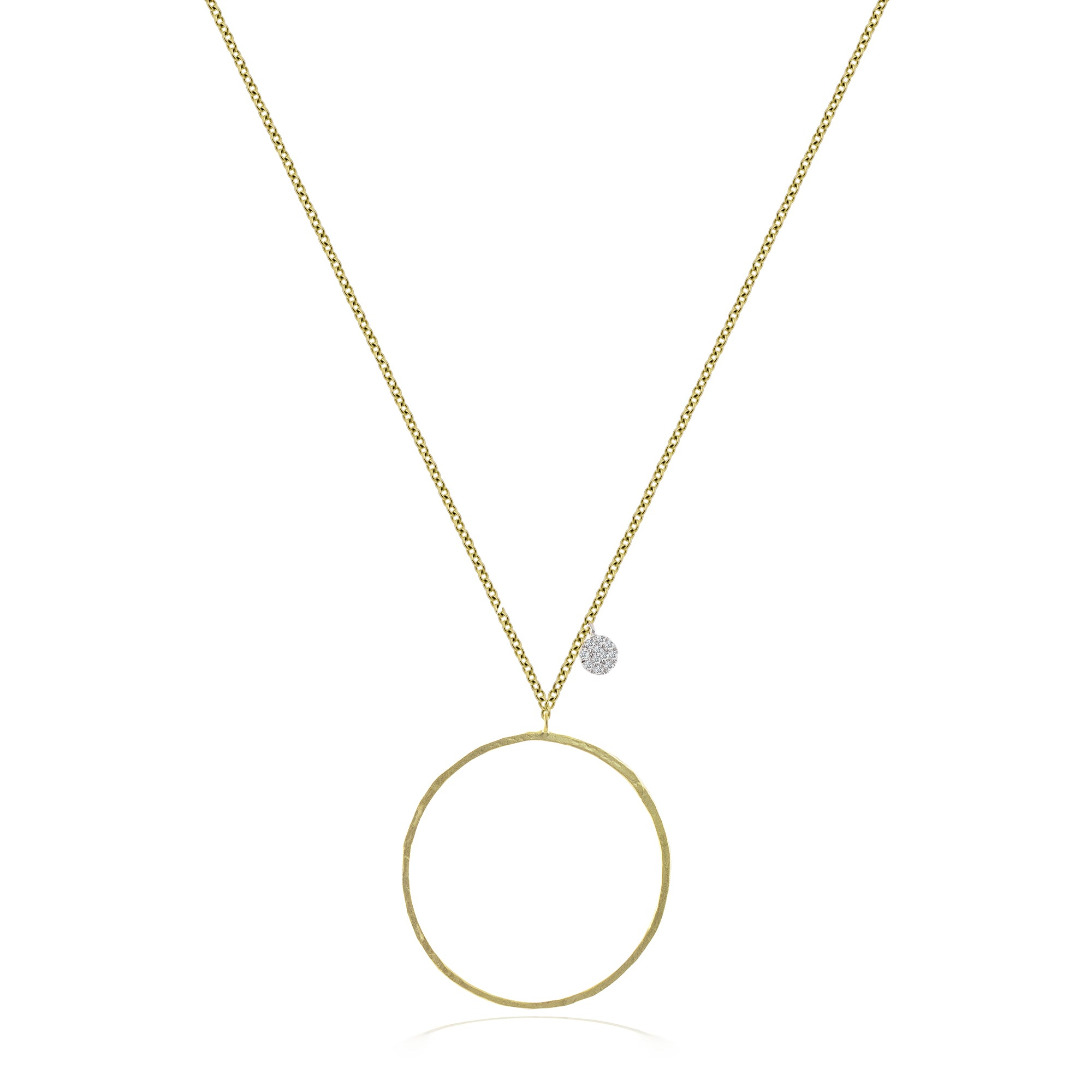 Circle and Charm Necklace