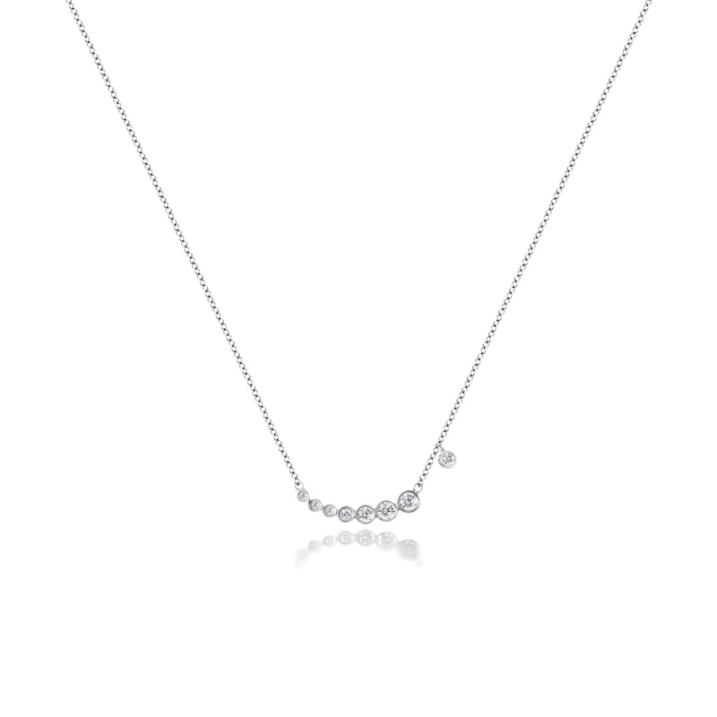 Diamond Bezel Cluster Necklace