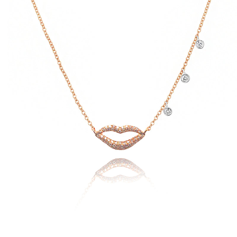 Rose Gold Lips necklace