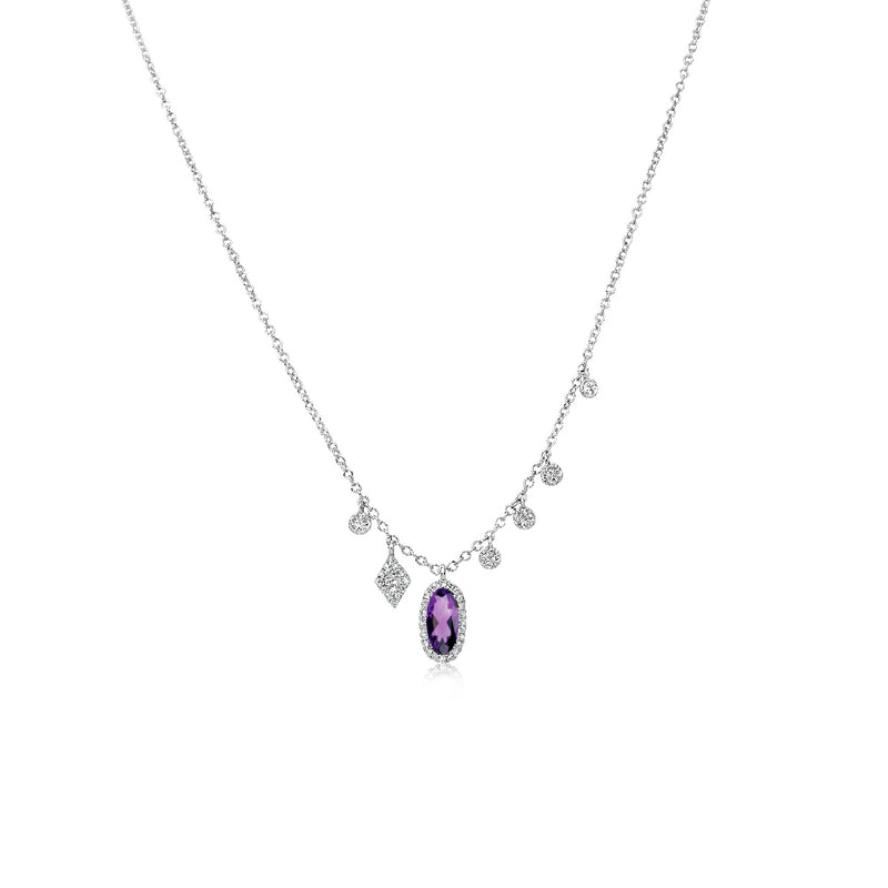 Dainty Amethyst Signature Necklace
