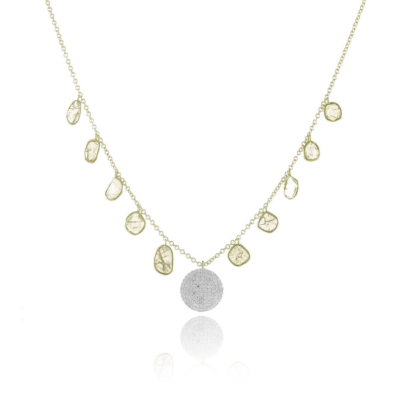 Slab Diamond Necklace