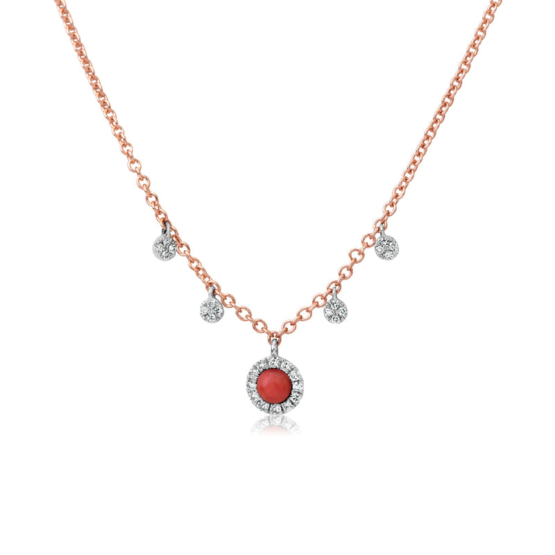Rose Gold Coral Necklace
