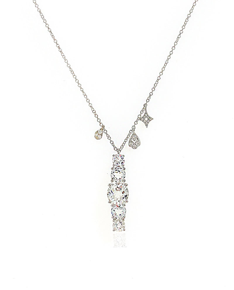 White Gold Topaz Necklace