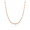 Rose Gold 18 inches Chunky Chain Diamond Necklace