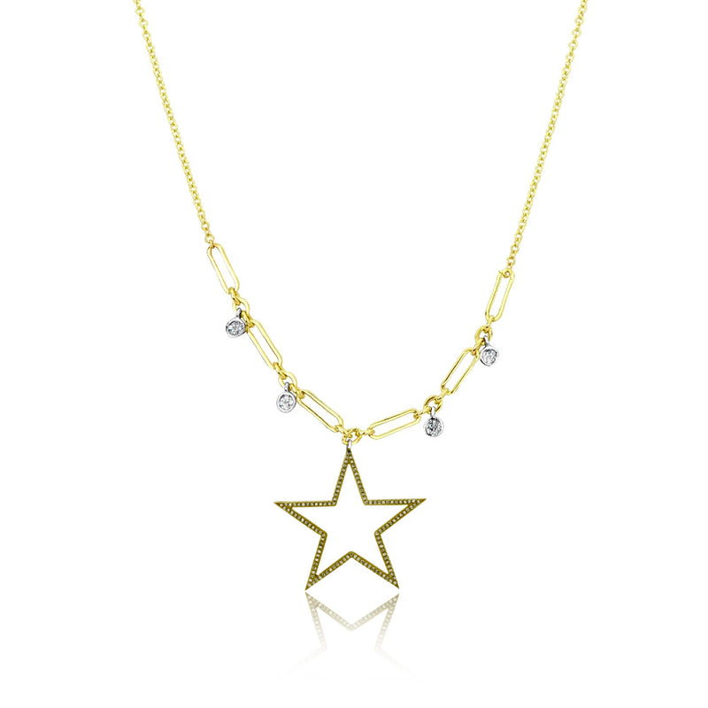 Champagne Diamond Star Necklace