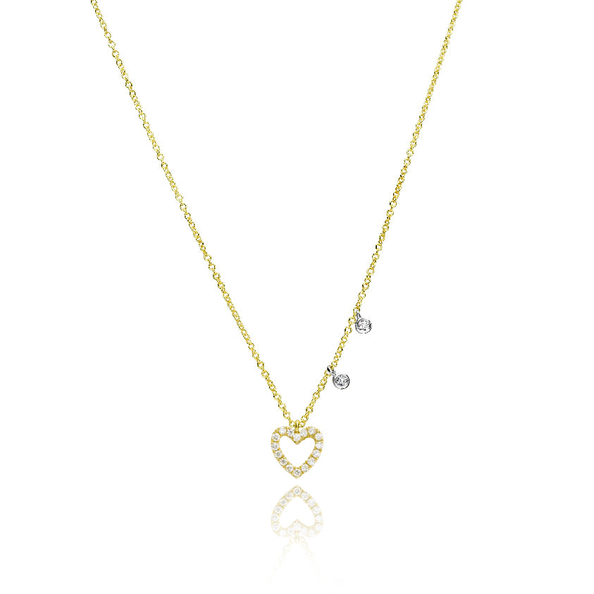 Dainty Yellow Gold Heart Necklace