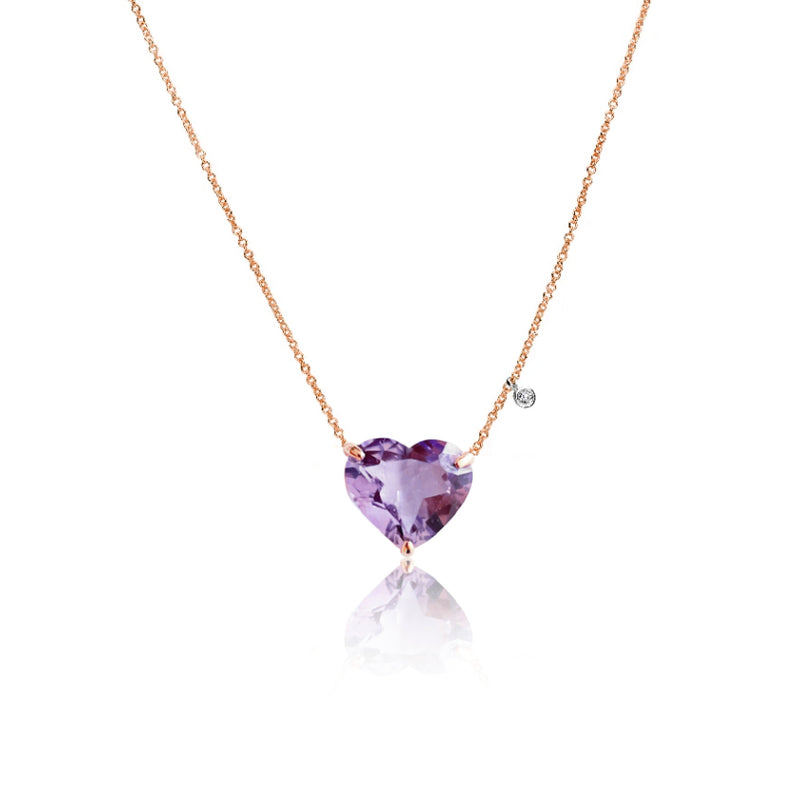 Amethyst Heart Necklace | Limited Edition