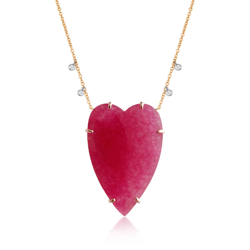 Agate Heart Necklace | Limited Edition
