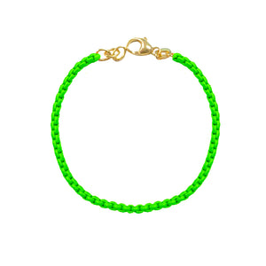 Neon Green Chain Bracelet (All New!)