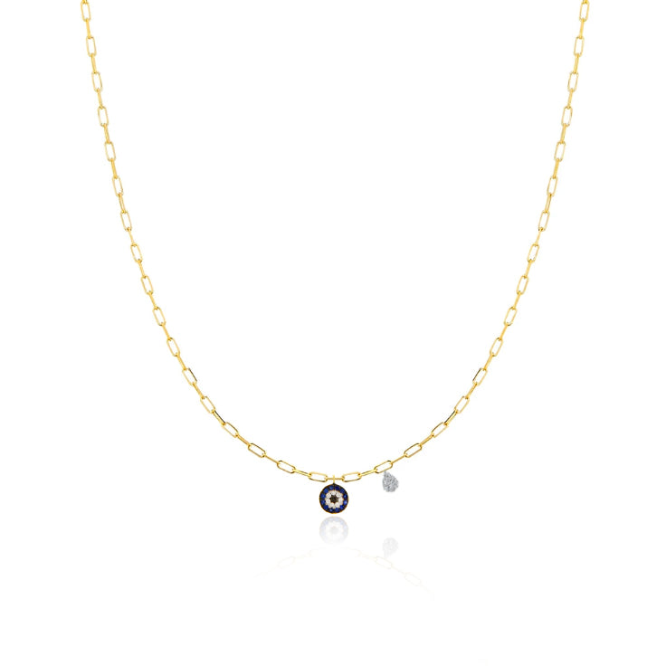 Chunky Chain Evil Eye Necklace