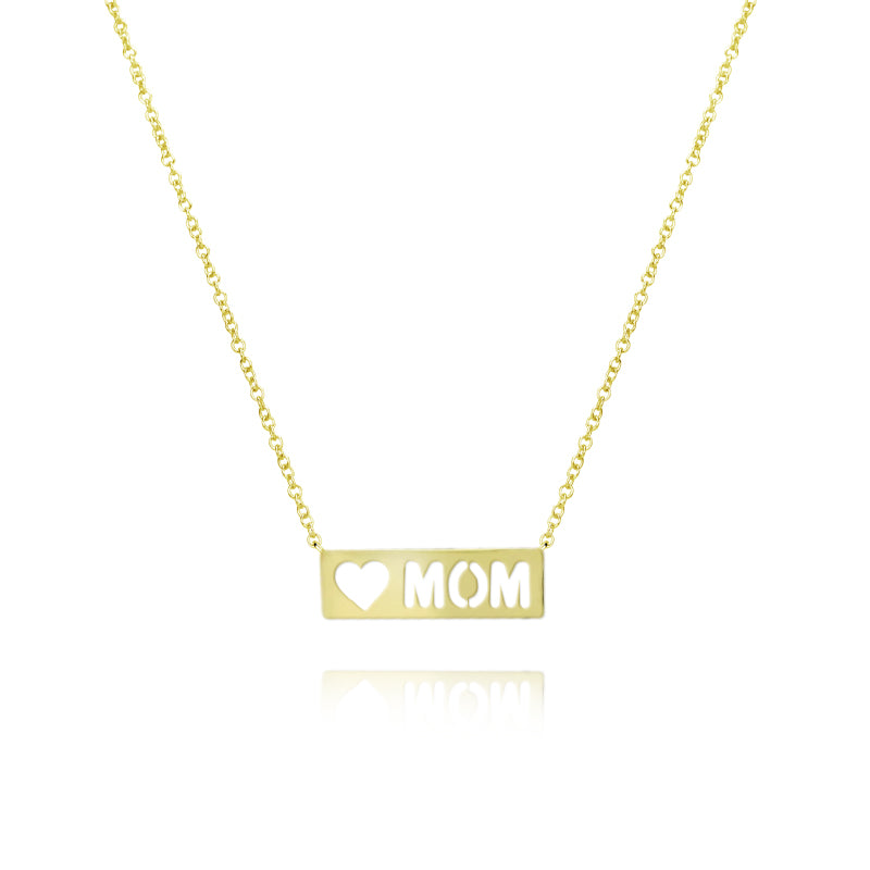 Mom Plate Necklace