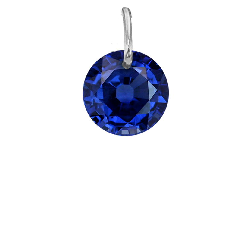 Drilled Blue Sapphire September Birthstone