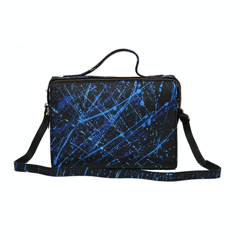 leather splatter paint purse