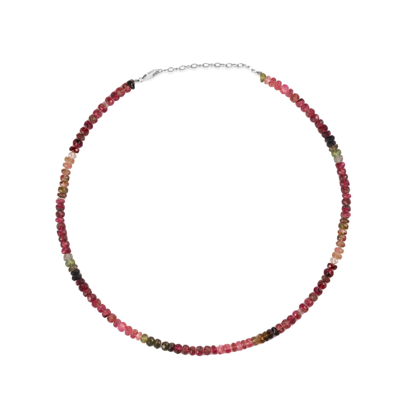 Ombre Watermelon Tourmaline Layering Necklace