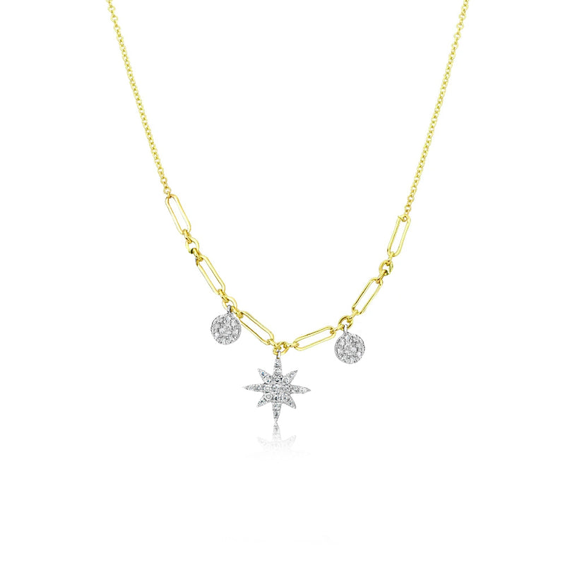 Starburst Double Chain Necklace