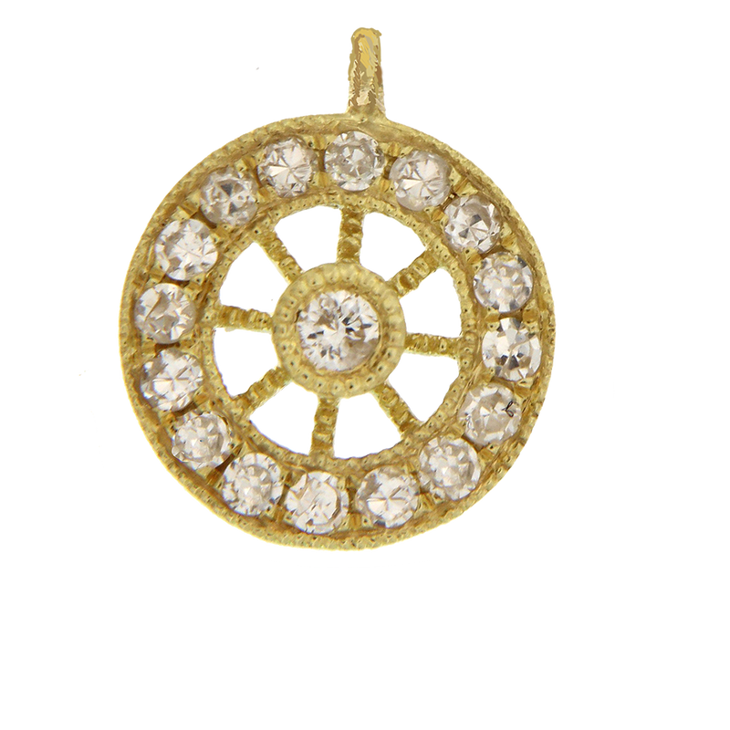 8mm yellow gold wheel