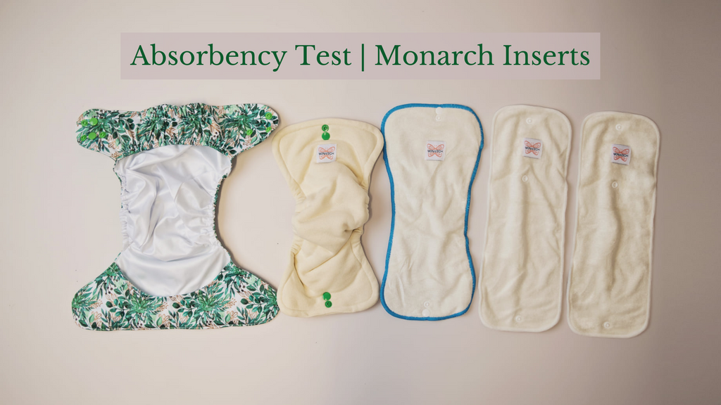 monarch store cloth nappy absorbency test