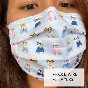 A. Face Mask w/ Nose Wire - Teenager & Adult