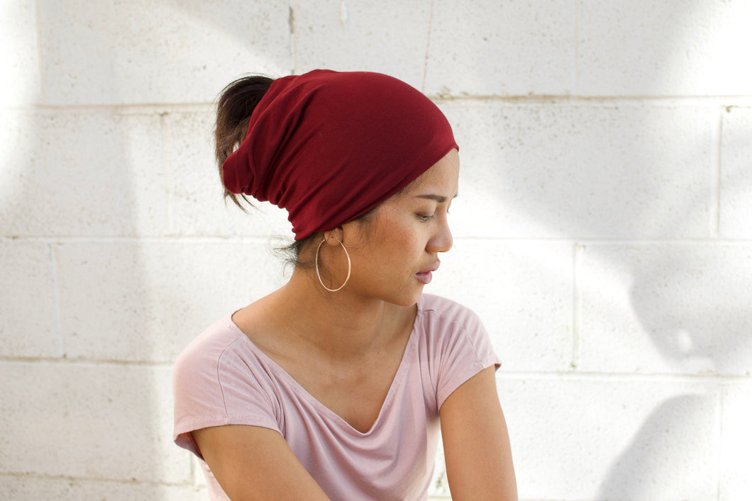 A. Extra wide headband - Red Beet
