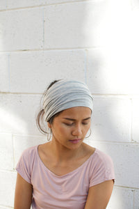 A. Extra wide headband - Light Gray