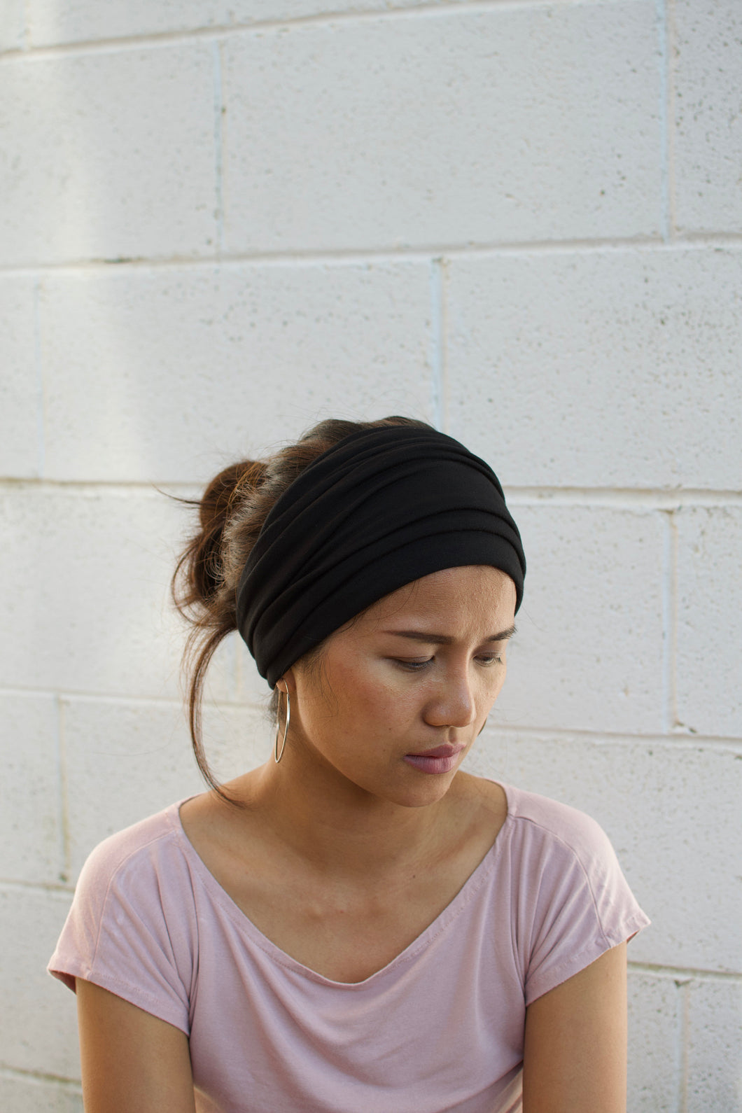 Dark Navy Blue Face Cover Headband